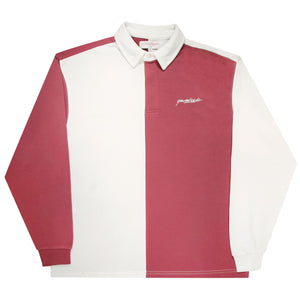 Tonic Longsleeve Polo (Burgundy/White)