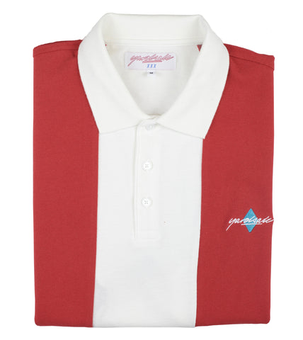 Red/White Quartz Polo