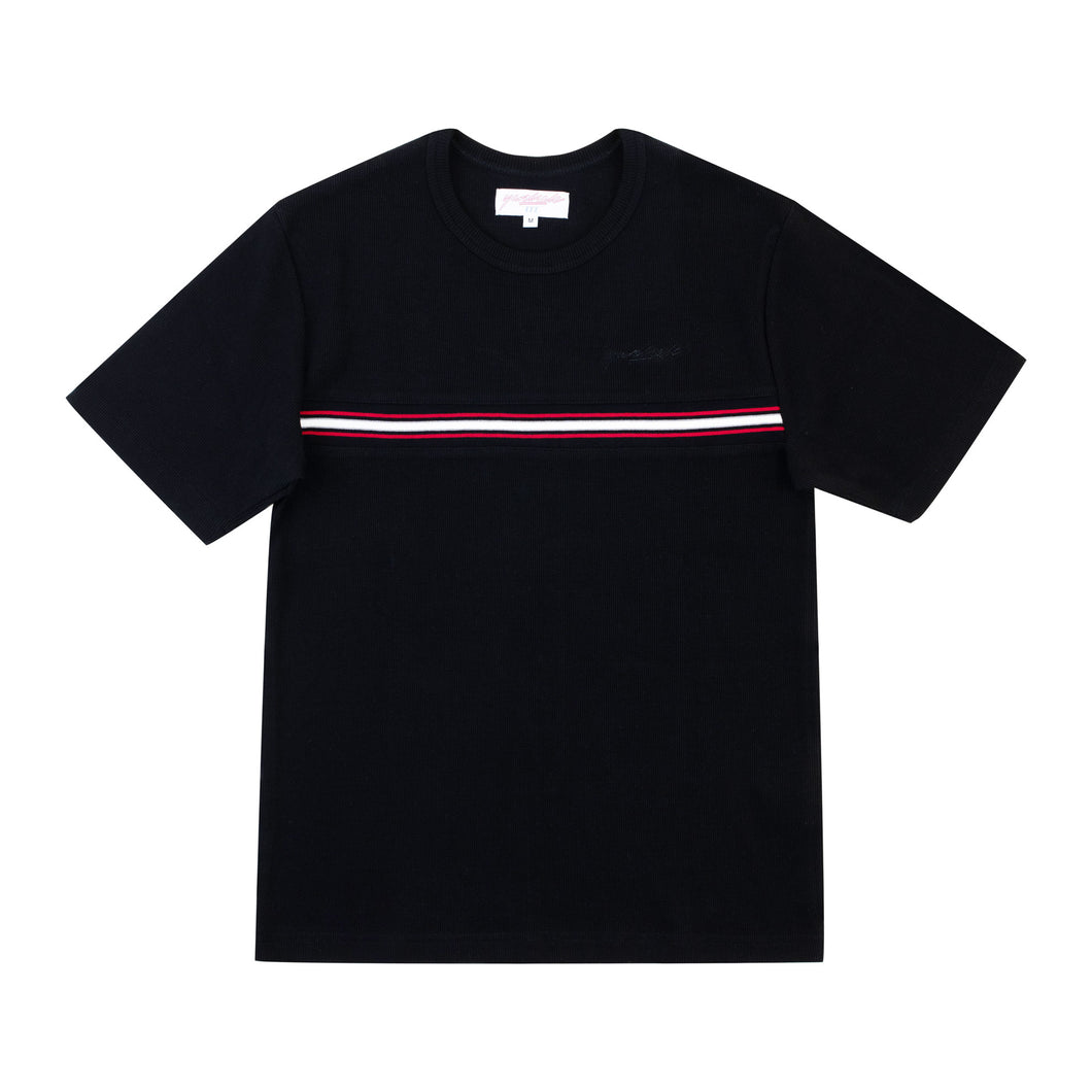 Ribbed Tee (Black)