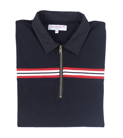 Black Ribbed Polo