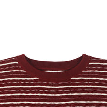 Mobb Knitted Script T-shirt Burgundy/White