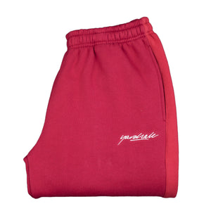 2tone tracksuit bottoms Cardinal/cherry