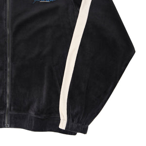 Velour Track Top (Charcoal/Cream)