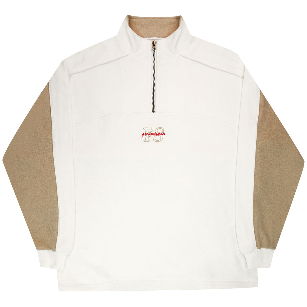 Pipeline Quarterzip (Cream/Brown)