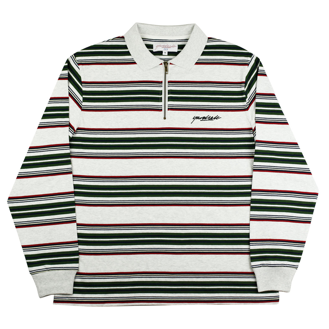 Dolores Quarterzip Polo </br>(Ash/Green/Red)