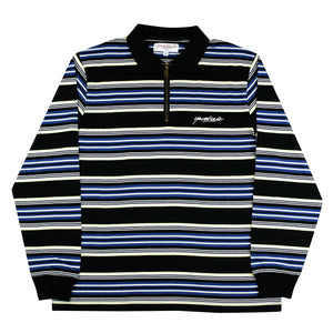Dolores Quarterzip Polo</br> (Black/Navy/Yellow)