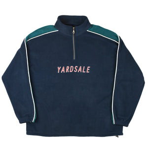 1/4 zip Sea Foam/Navy