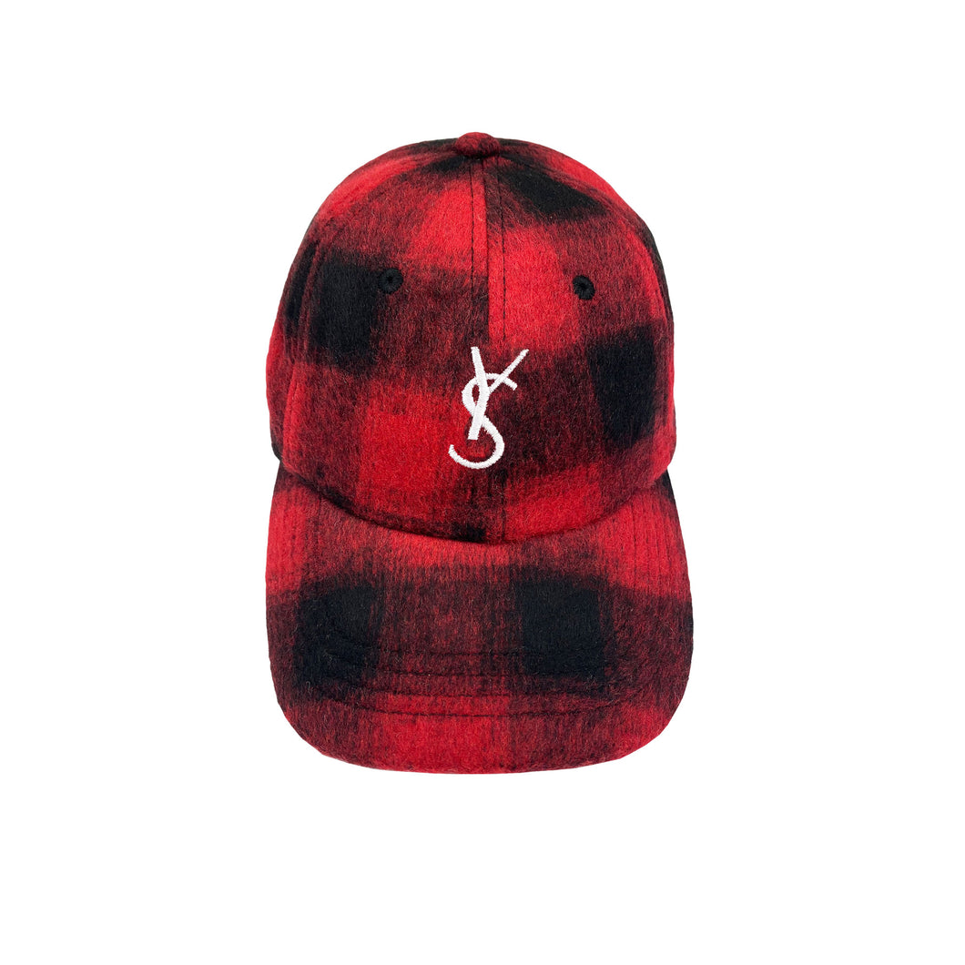 YS Flannel Cap </br>(Red/Black)