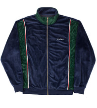 Blue/Emerald green velour tracktop