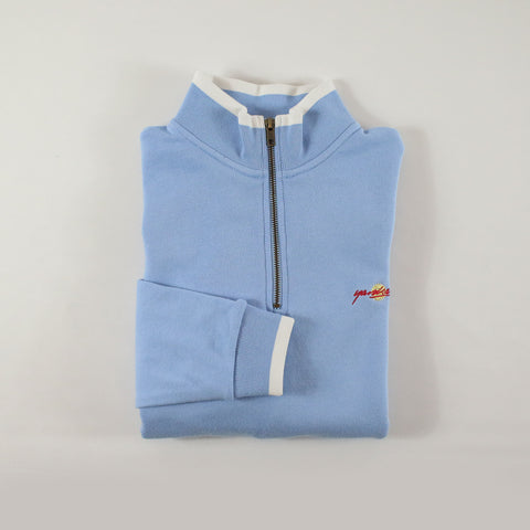 BABY BLUE DIPPED QUARTER-ZIP