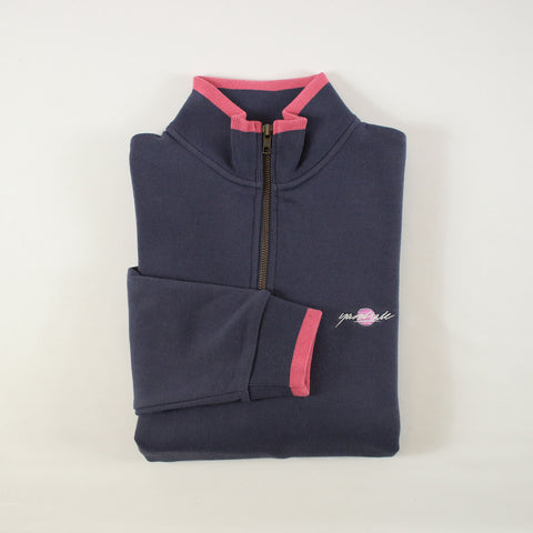 Indigo Dipped Quarter-zip