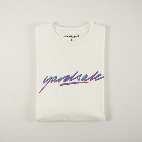 WHITE SCRIPT LONG-SLEEVE T-SHIRT