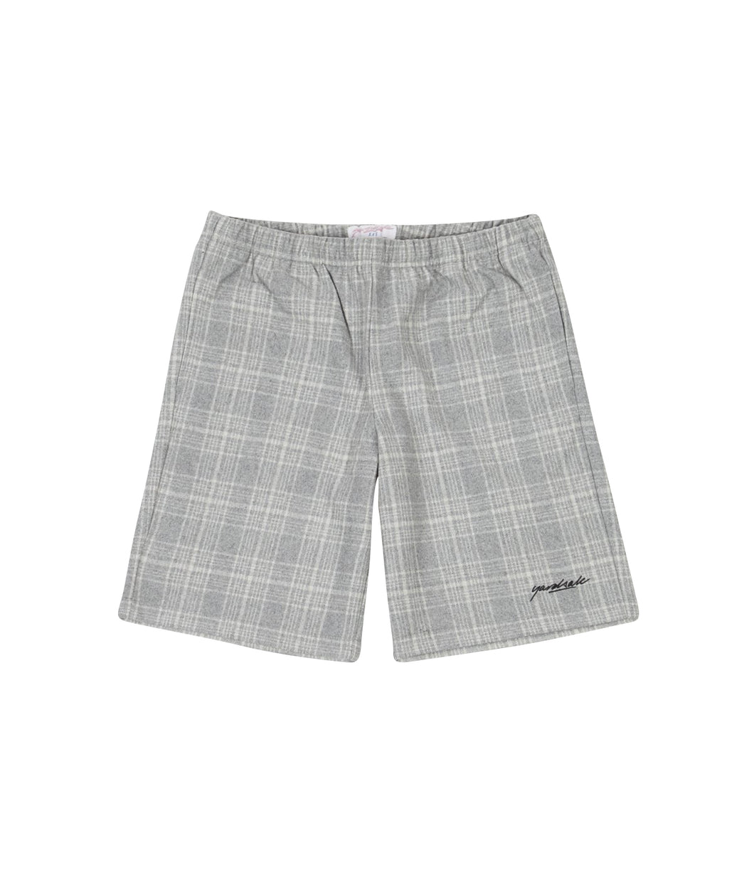 Flannel Shorts (Grey/White)