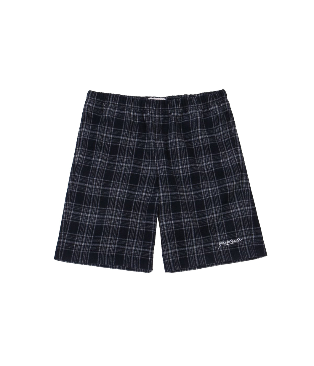 Flannel Shorts (Navy/White)