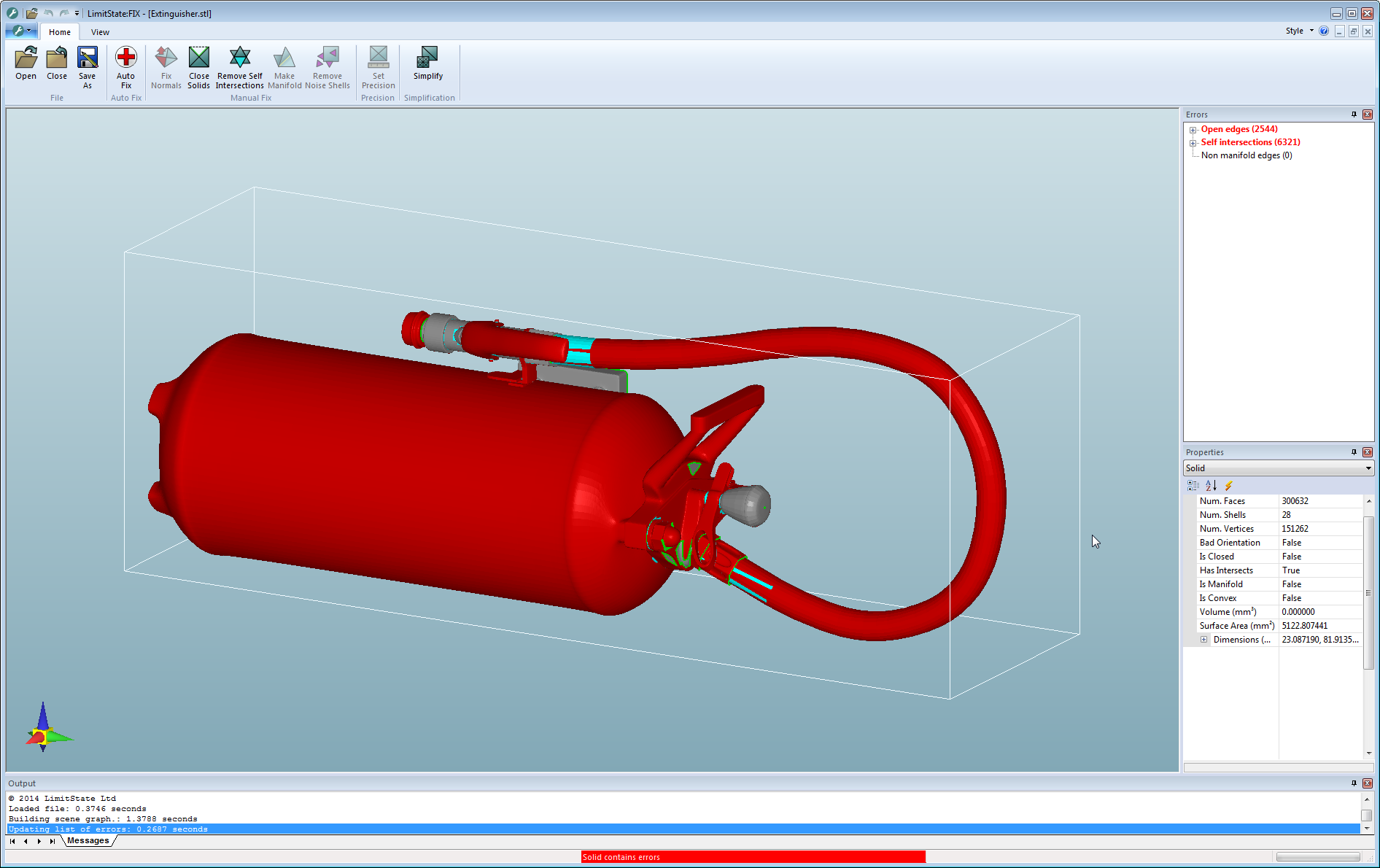 Fire extinguisher STL mesh