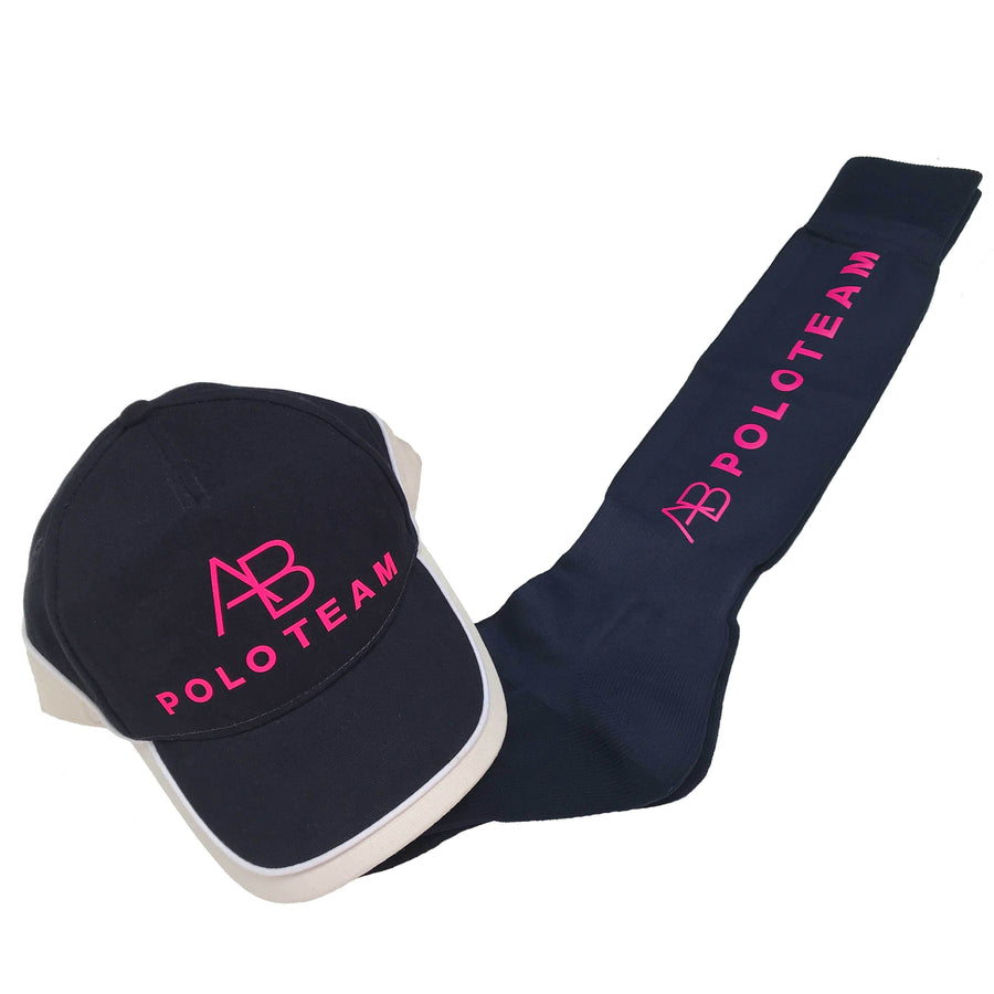 AB POLO - Navy socks with pink - Annabel Brocks