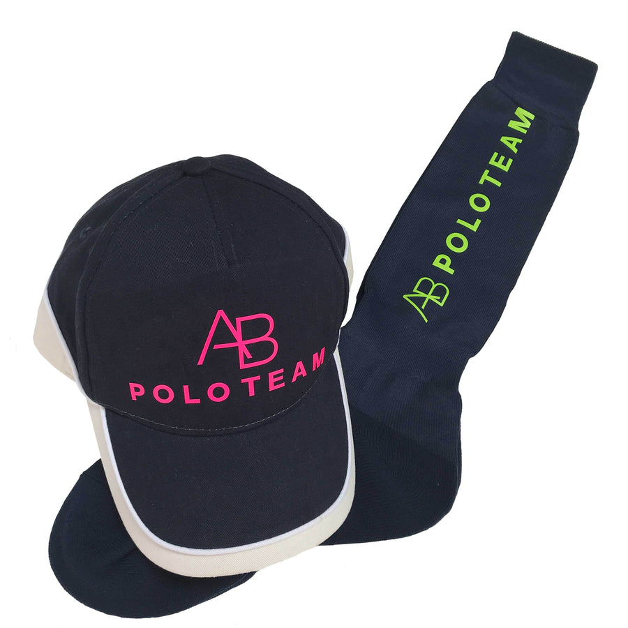 AB POLO - Navy socks with yellow - Annabel Brocks