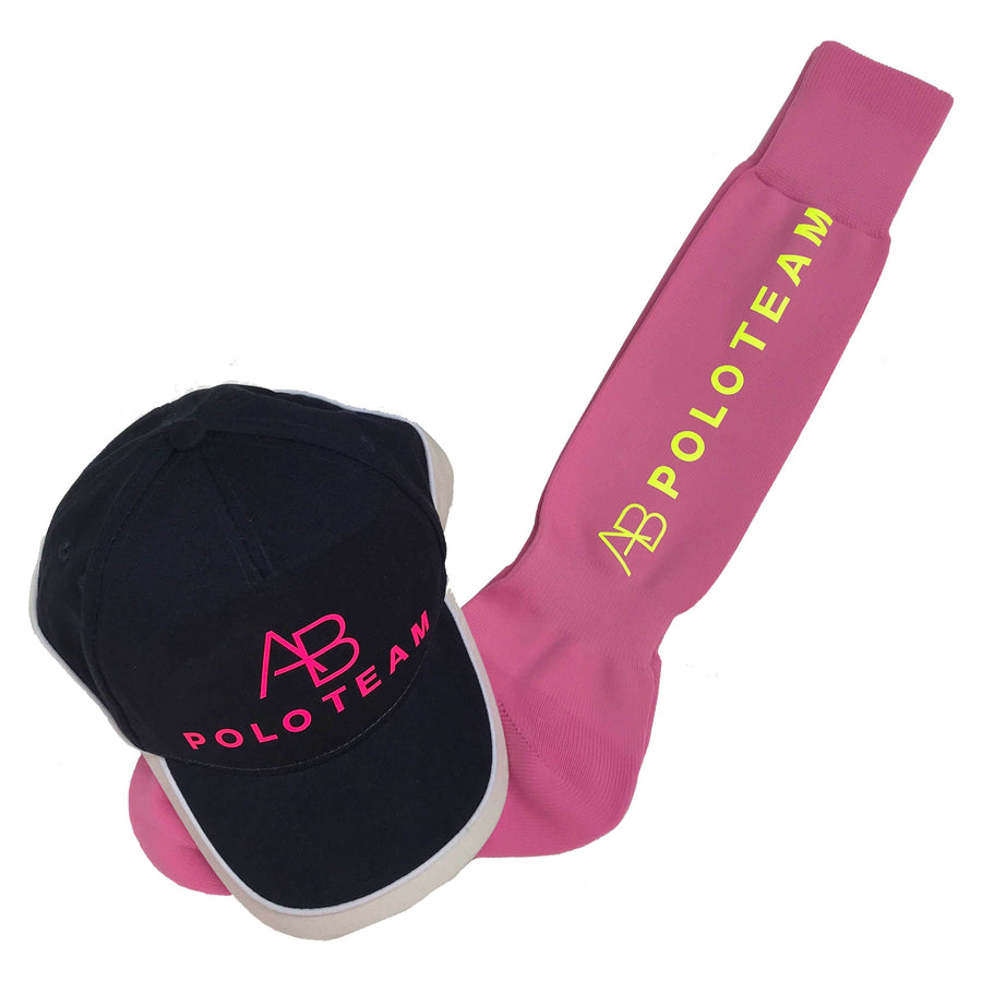 AB POLO - pink socks with yellow - Annabel Brocks