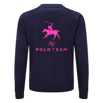 AB Polo sweatshirt - navy with neon pink - Annabel Brocks