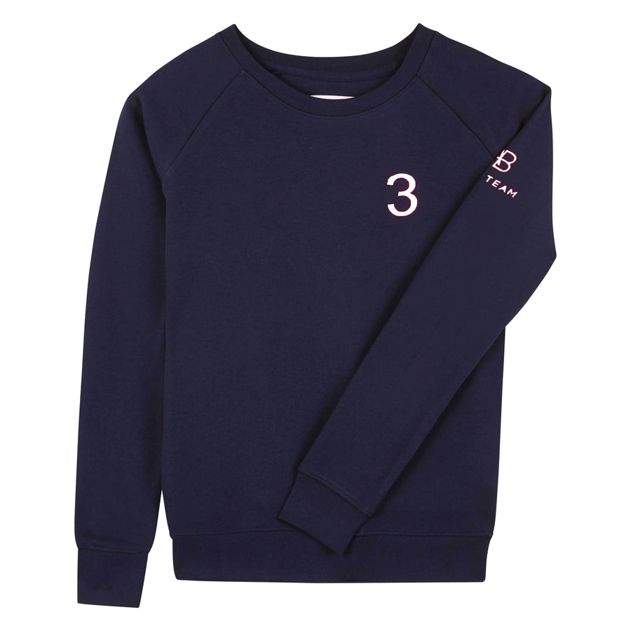 AB Polo sweatshirt - navy with white - Annabel Brocks