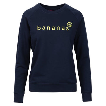 Nourish Sweatshirt - Navy Bananas - Annabel Brocks