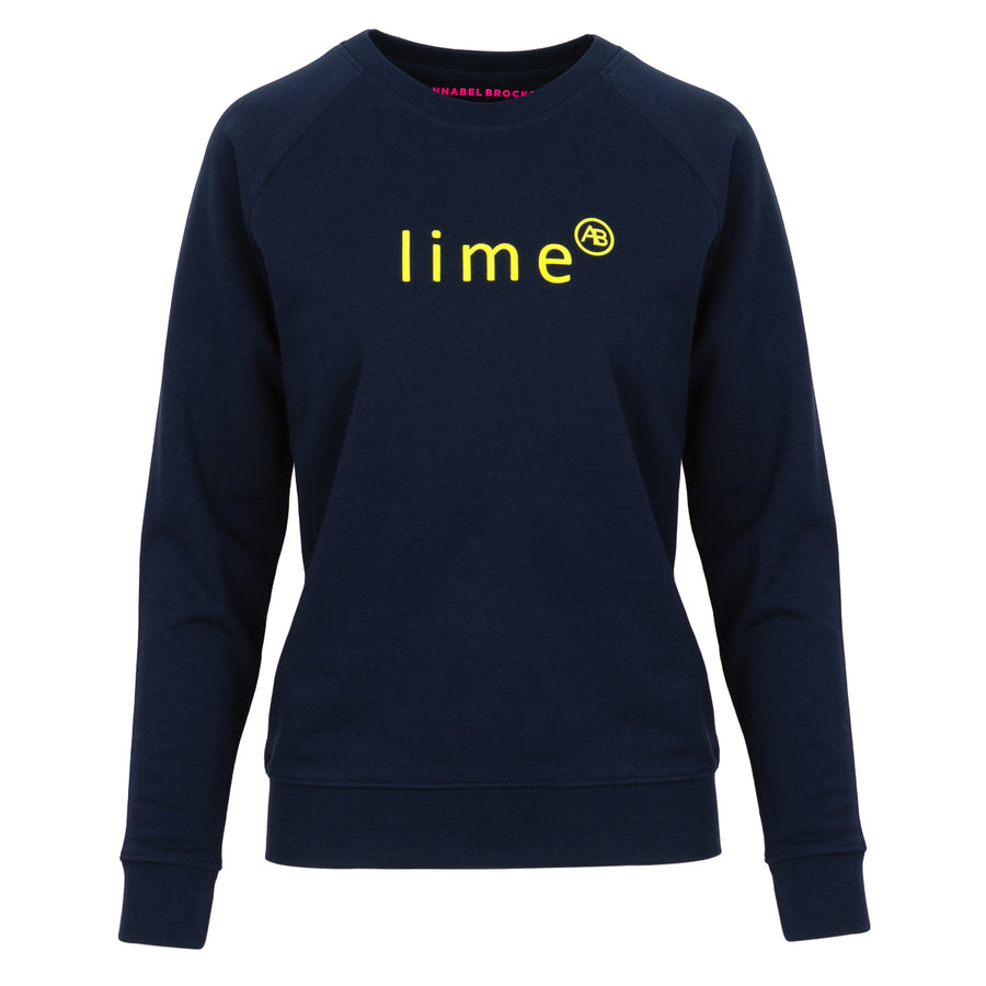 Nourish Sweatshirt - Navy with Lime - Annabel Brocks