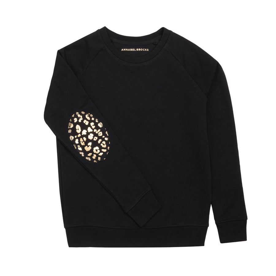 Black with black and gold animal print elbow - Annabel Brocks