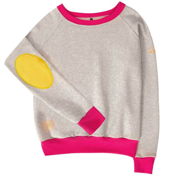 AWOL - Grey and Pink Sweatshirt - Annabel Brocks