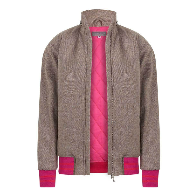 The Bomber - natural with pink and orange - Annabel Brocks