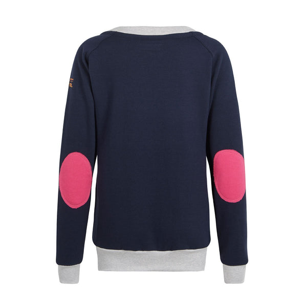 AWOL - Navy with grey and pink sweatshirt - RELAXED FIT - Annabel Brocks