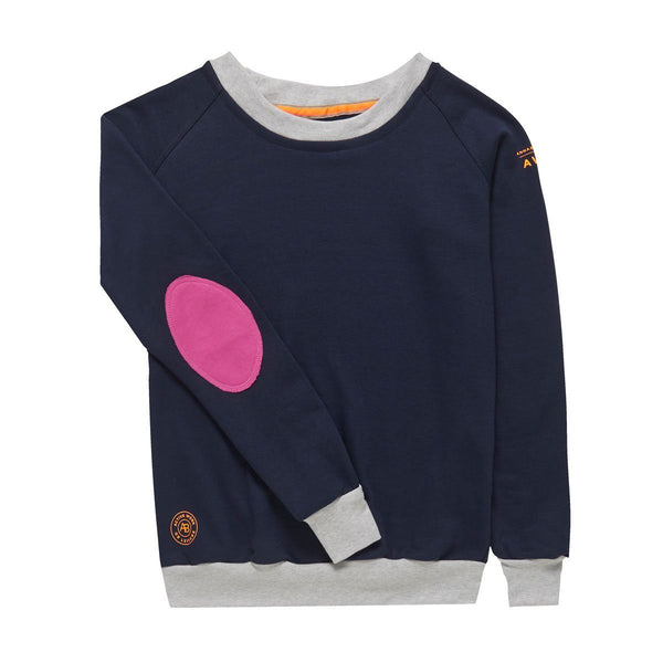 AWOL - Navy with grey and pink sweatshirt - Annabel Brocks