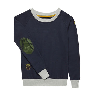 SAMPLE SALE AWOL - Navy with grey and Green Camo sweatshirt - Annabel Brocks