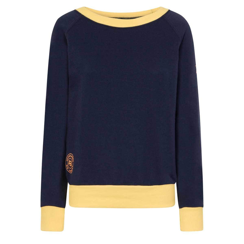 AWOL - Navy and Yellow Sweatshirt - Annabel Brocks