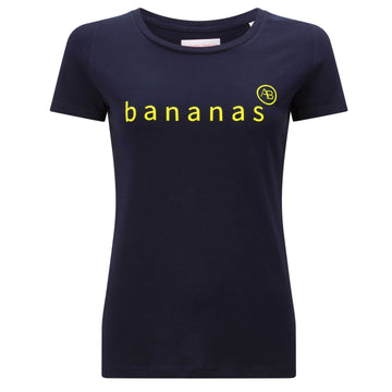 Nourish t-shirt - Navy with Bananas - Annabel Brocks