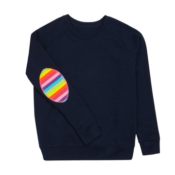 Navy with Rainbow elbow Patch - Annabel Brocks