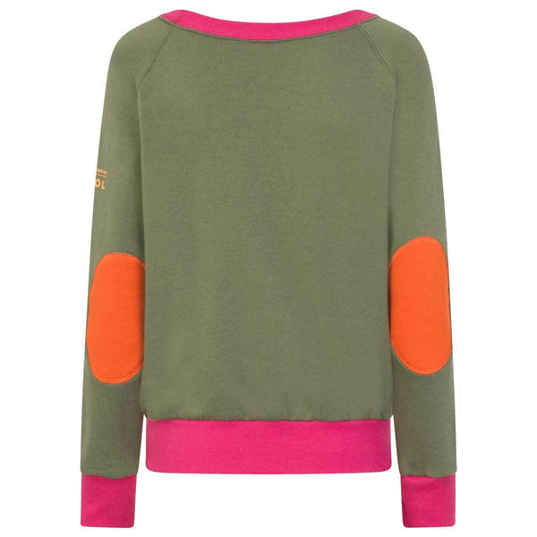 AWOL - Olive and Pink Sweatshirt - LIMITED EDITION - Annabel Brocks