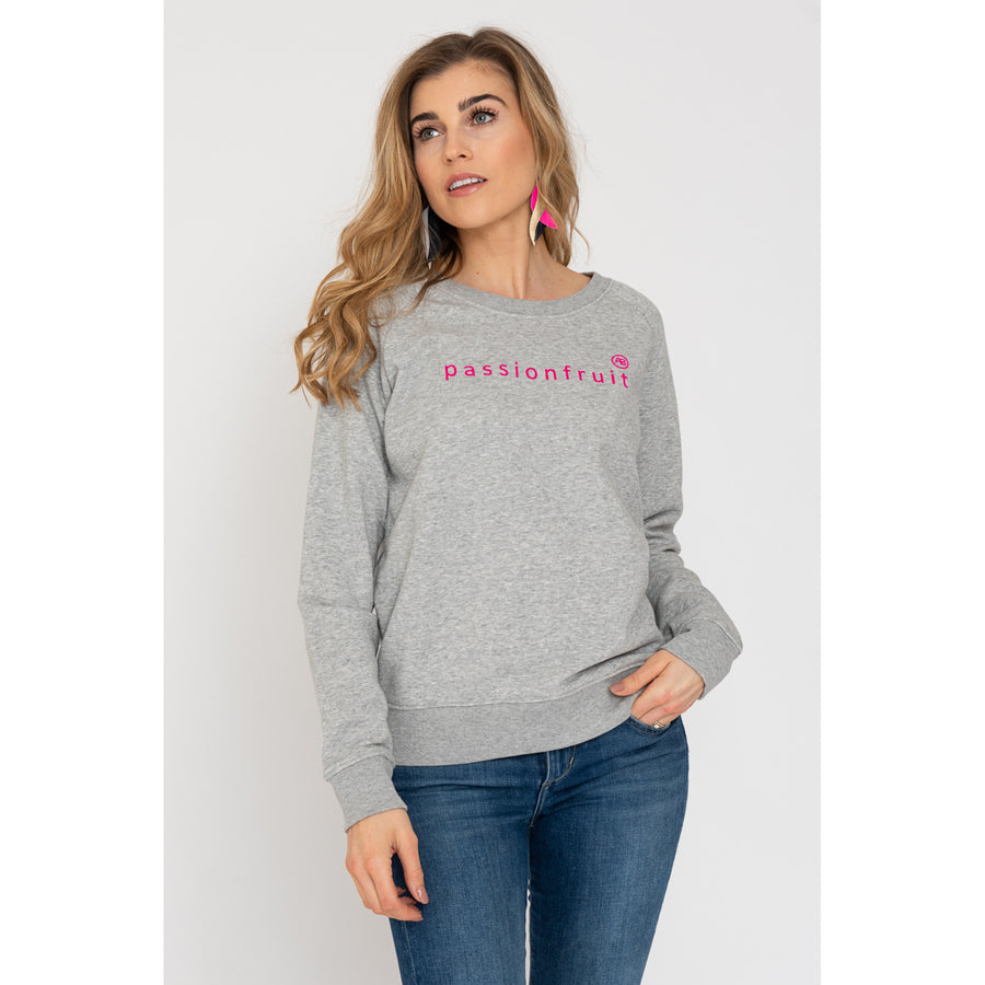 Nourish Sweatshirt - Grey with Pink Passionfruit - Annabel Brocks