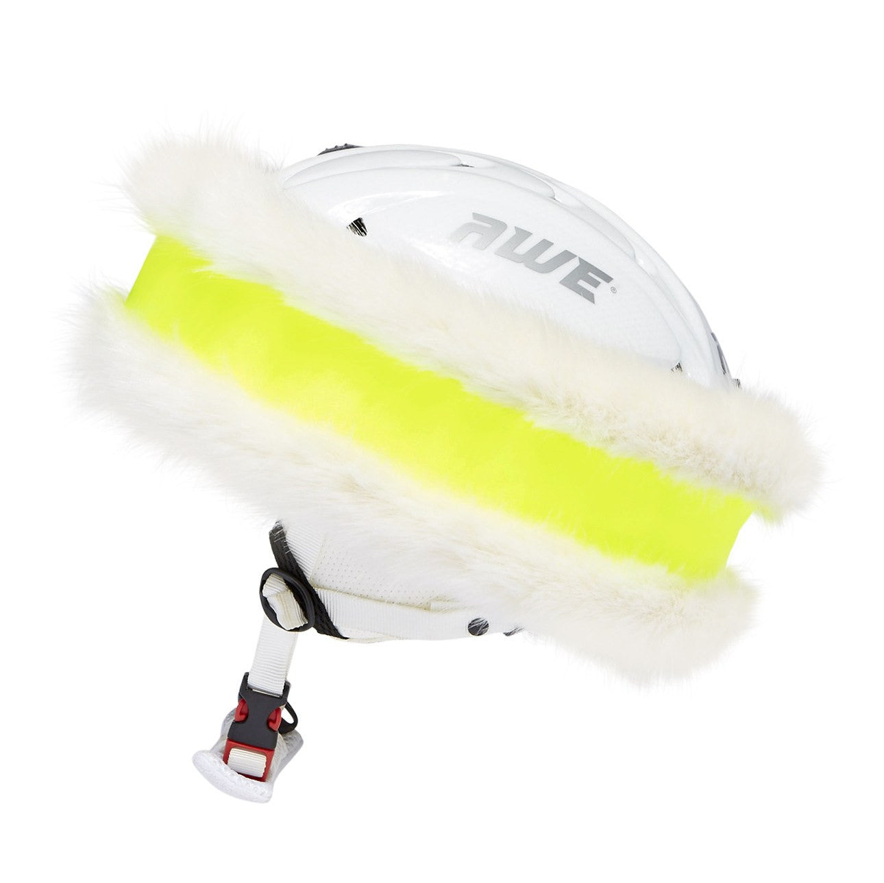 Neon Yellow and White 'Snowband' - Annabel Brocks