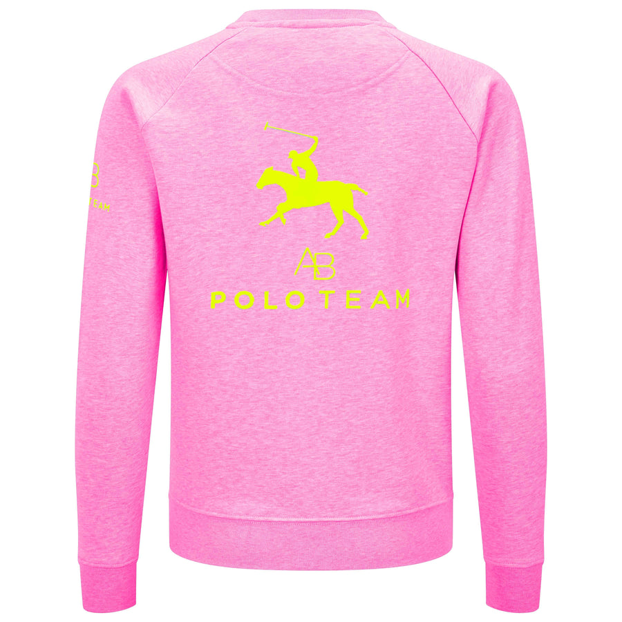 AB Polo sweatshirt - pink with neon yellow - Annabel Brocks