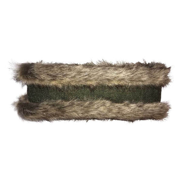 Natural Faux Fur with dark green tweed - Annabel Brocks