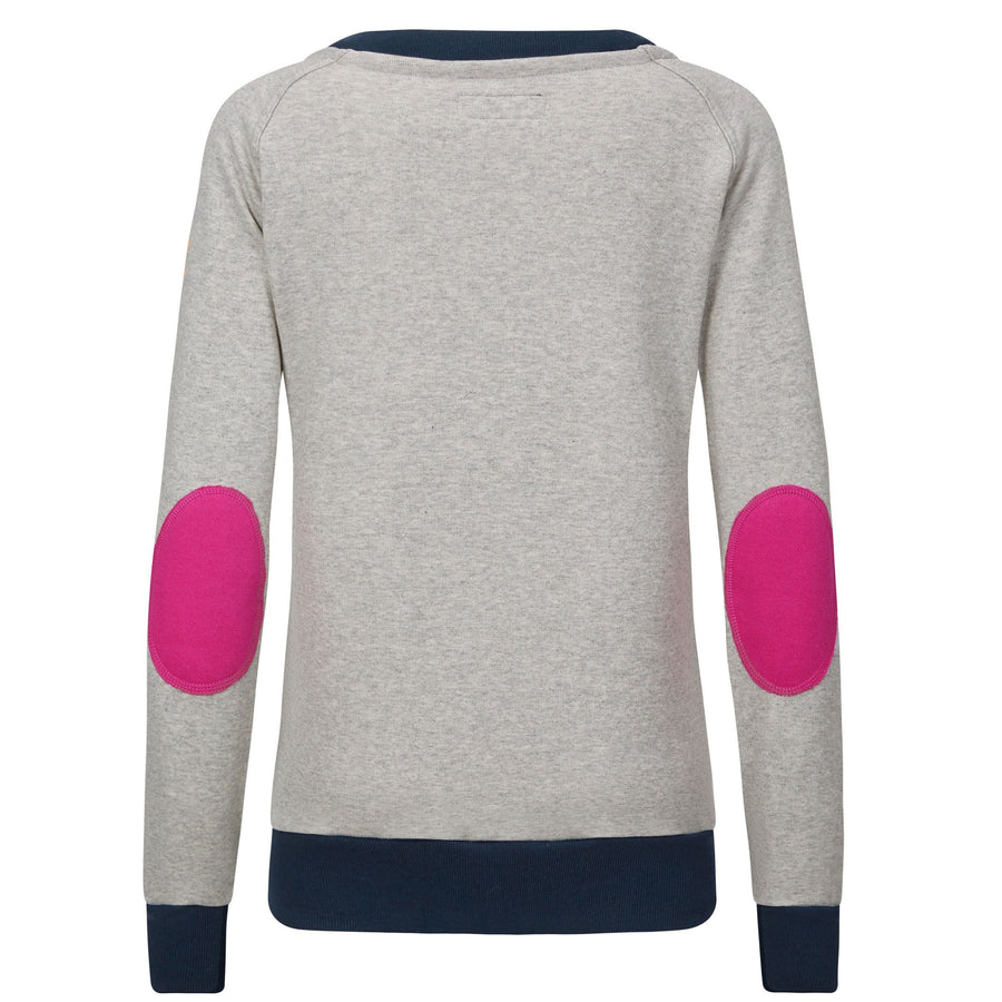 AWOL - Light Grey with Navy Rib and Pink Patch - Relaxed Fit - Annabel Brocks