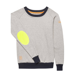 AWOL - Light Grey with Navy Rib and Neon Yellow Patch - Annabel Brocks