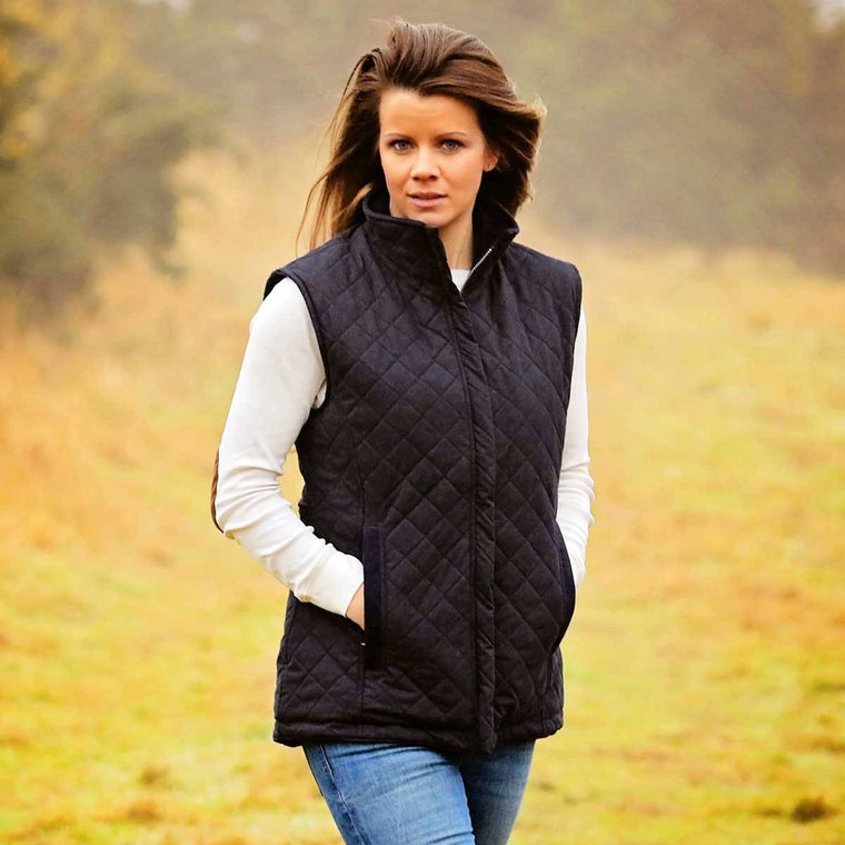 Navy Quilted Pelham Gilet