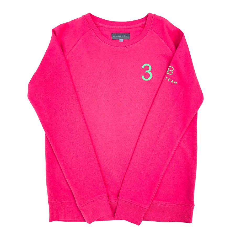 AB Polo sweatshirt - pink with neon green - Annabel Brocks