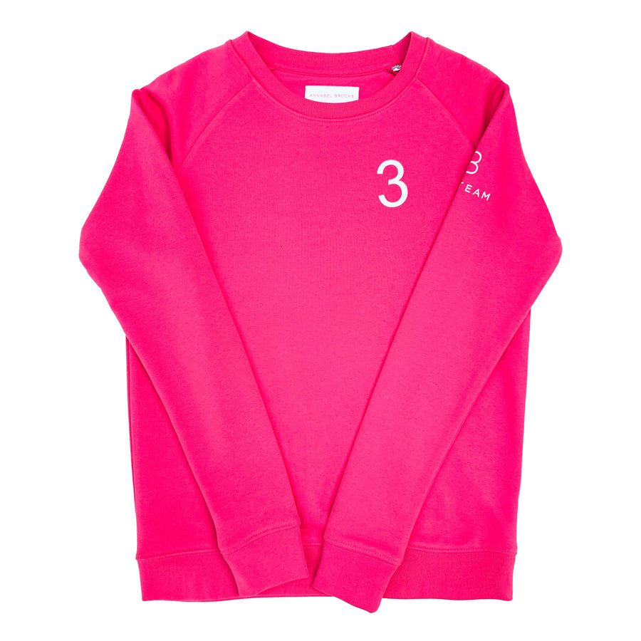 AB Polo sweatshirt - pink with white - Annabel Brocks