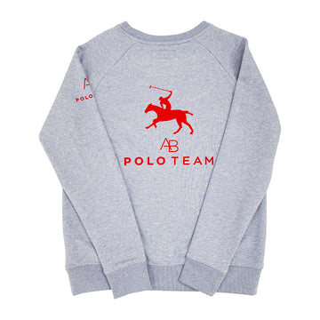 AB Polo sweatshirt - soft blue with red - Annabel Brocks