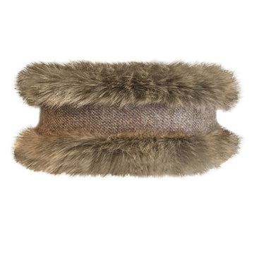 Natural Faux Fur & Natural Tweed - Annabel Brocks