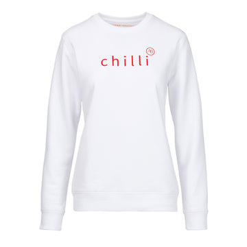 Nourish Sweatshirt - White with red Chilli - Annabel Brocks