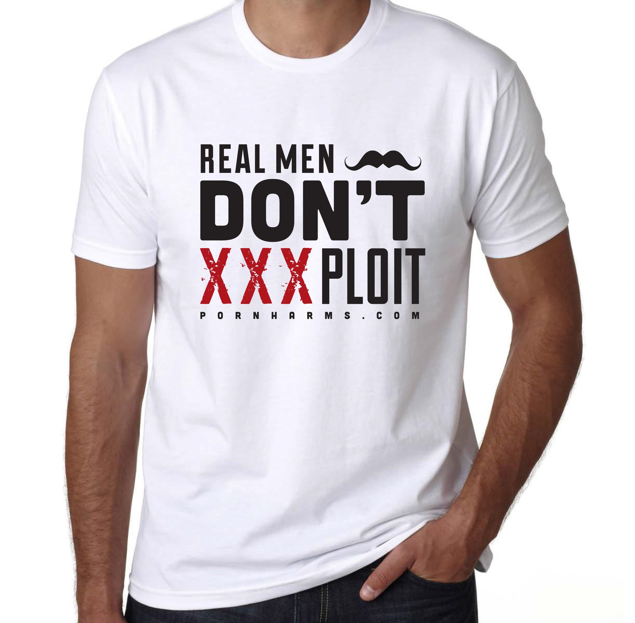 'Real Men Don't Exploit' Tee