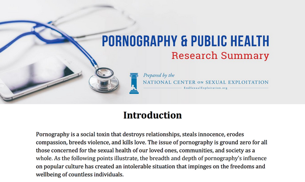 Pornography and Public Health Research Summary with Free Download